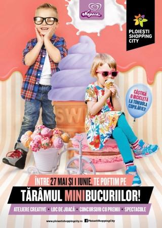 Sase zile de distractie pentru cei mici pe Taramul Minibucuriilor la Ploiesti Shopping City