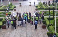 Angajatii TCE au protestat la Ploiesti