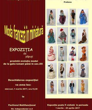 Moda franceza in miniatura: Expozitie de manechine-papusi