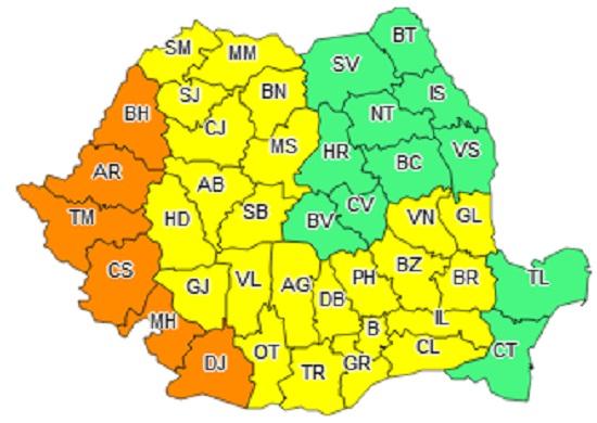 Cod galben de canicula in Prahova
