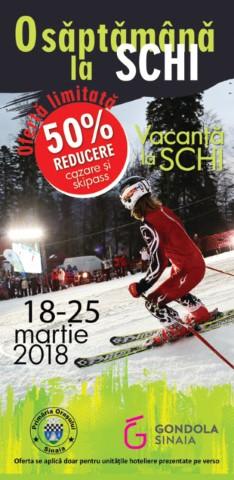 """Sinaia va avea reprezentanti la Targul de Turism de la Berlin; """"O saptamana la schi"""""""
