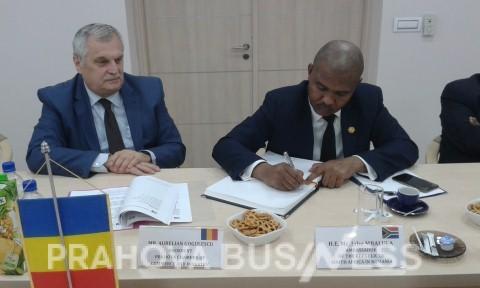 Presedintele CCI Prahova, Aurelian Gogulescu, l-a primit pe Ambasadorul Africii de Sud