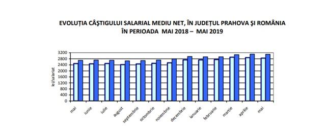 Evolutii, indici privind FORTA DE MUNCA in judetul Prahova.Castiguri salariale peste media judetului s‐au inregistrat in ramura servicii
