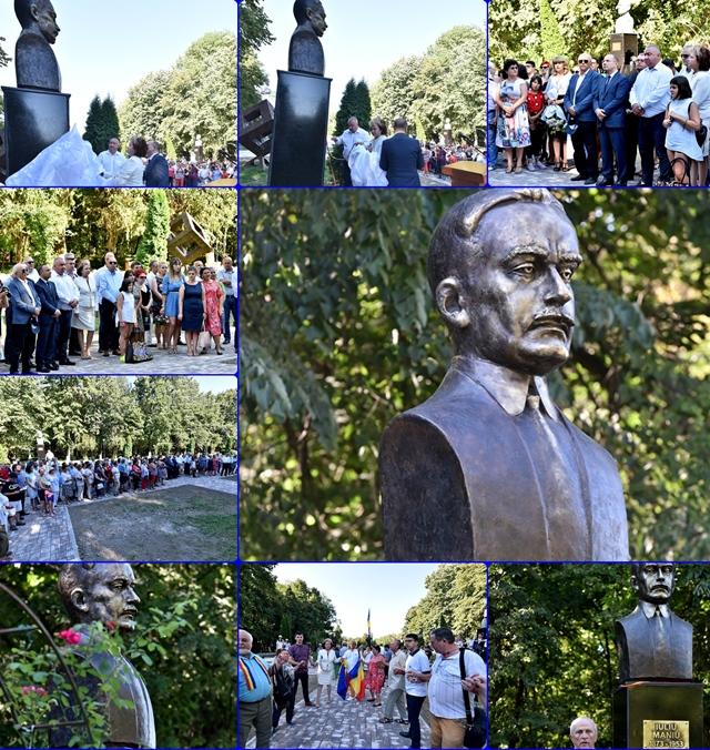 """Bustul lui Iuliu Maniu dezvelit la Bucov, pe ,,Aleea Fauritorilor Marii Uniri"""""""