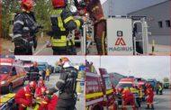 Incendiu de proportii de o fabrica din Floresti. Au fost mobilizati 71 de pompieri! Din fericire, a fost vorba de un exercitiu