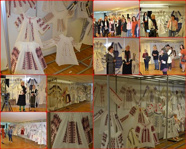 """ONORANT! Directorul Centrului Judetean pentru Cultura Prahova la vernisajul expozitiei """"Ii si camasi romanesti – traditie si valorificare, elemente de patrimoniu cultural imaterial"""