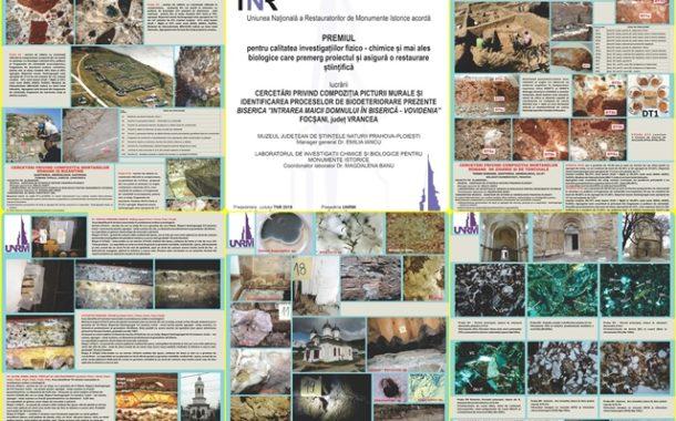FELICITARI! Specialistii Muzeului Judetean de Stiintele Naturii Prahova- PREMII LA TRIENALA DE RESTAURARE A UNIUNII NATIONALE A RESTAURATORILOR DE MONUMENTE ISTORICE