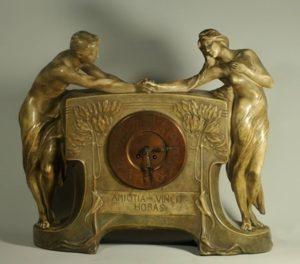 Piesa de colectie marca Friedrich Goldscheider la Muzeul Ceasului din Ploiesti