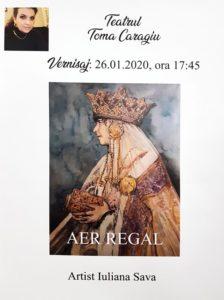 """CE INSPIRAT: """"Aer regal"""" in foaierul  Teatrului """"Toma Caragiu"""""""