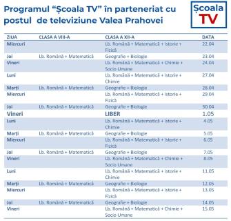 Scoala la TV in Prahova!