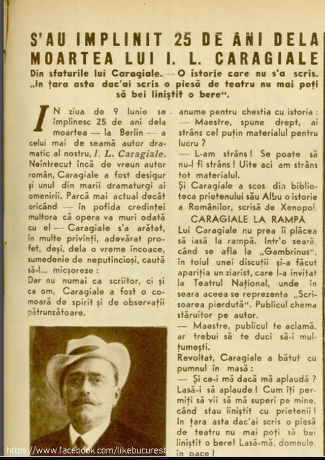 Azi, 99 de ani de cand Nenea Iancu a inchis ochii. NEMURITOR stindard cultural al Prahovei!