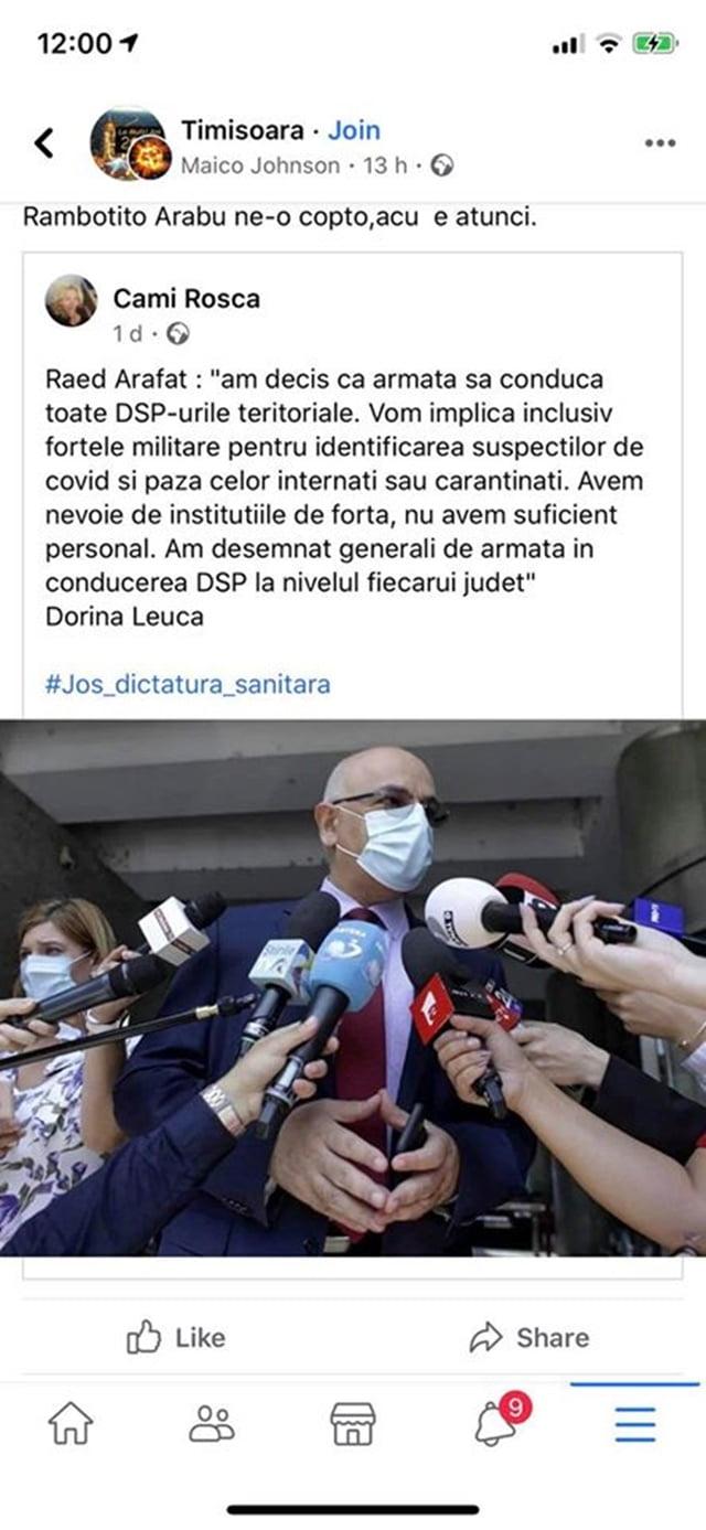"""ATENTIE CE STIRI/INFORMATII CITITI! RAED ARAFAT, AVERTISMENT: """"Cei cu minciunile si 'fake news' nu se opresc!"""""""