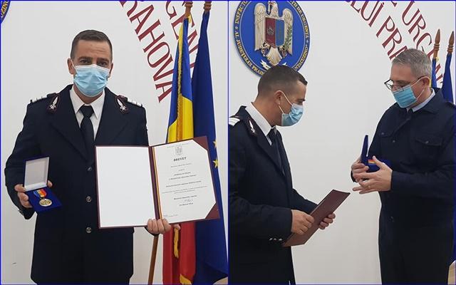 Un SALVATOR de la ISU Prahova, distins cu Emblema de Onoare a MAI