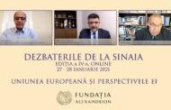 """A IV-a editie a """"Dezbaterilor de la Sinaia"""" a reunit lideri de opinie din multiple domenii, care au discutat despre provocarile si viitorul Uniunii Europene"""