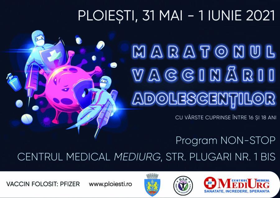 Maratonul Vaccinarii Adolescentilor, la Ploiesti