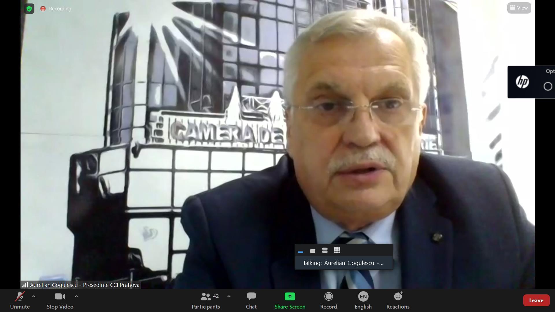 Presedintele CCI Prahova, Aurelian Gogulescu, la un eveniment China – CEEC