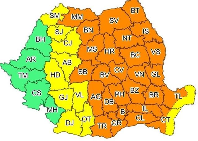 Prahova, sub COD PORTOCALIU de instabilitate atmosferica!